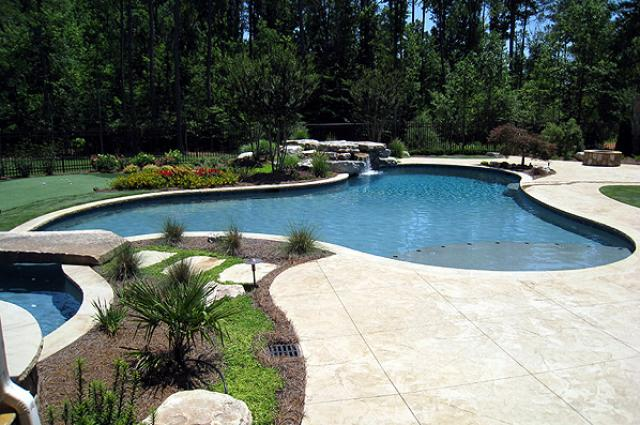 Free form pools backyard oasis pools high quality pool for Pool designs victoria