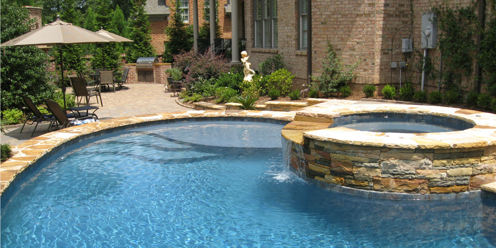 Home backyard oasis pools high quality pool installation for Quality pool design